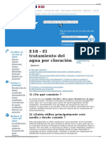 E18 - El Tratamiento Del Agua Por Cloración - Wikiwater
