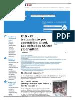 E19 - El Tratamiento Por Exposición Al Sol. Los Métodos SODI