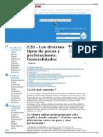 E28 - Los Diversos Tipos de Pozos y Perforaciones. Generalid