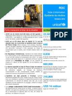 RDC - Note Info Epidémie Choléra - Octobre 2016