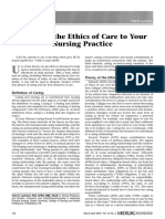 Applying the Ethics of Care to Your Nursing Practice