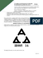 Uputstvo Za Koriscenje Potvrde i Izjave o Usaglasenosti i Znaka Usaglasenosti Engleski Vazeci
