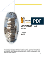 Cement Industry Pitch Book GCC May09
