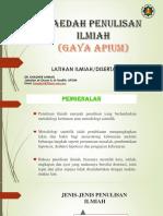 Kaedah Penulisan Ilmiah-Tesis-Paper Projek