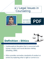 ETHICAL ISSUES IN COUNSELING_saida.ppt