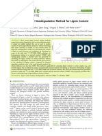 2014 A 13C CPMAS Based Nondegradative Method for Lignin Content Analysis