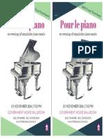 Pour Le Piano Flyer