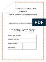 Me1036 Dts Tutorial Note Book