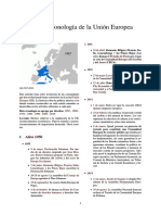 Cronología de La Unión Europea