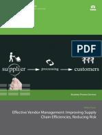 Effective Vendor Management Supply Chain Efficiencies 0115 1