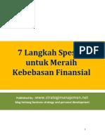 7 Langkah Spesial Untuk Meraih Kebebasan Finansial