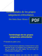 B. Generalidades de Grupos Sang