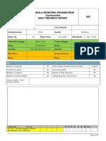 Daily Progress Report-Construction Team 04-10-2016