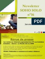 Newsletter Soho Solo n16 Janvier09
