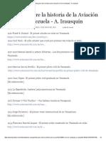 Ensayos Sobre La Historia de La Aviación Civil en Venezuela - A.irausquin