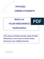 Fluid Mechanics Hydrostatics