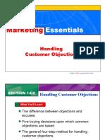 Handling Customer Objections