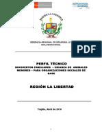 Perfil Técnico Biohuertos Familiares Animales Menores Para O S B Region La Libertad