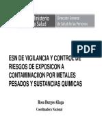 1. Vigilancia Epidemiologica de Metales y Plaguicids en El Peru y La REgion