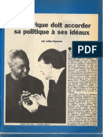 Analyse de la situation en Afrique Austral par Julius Nyerere