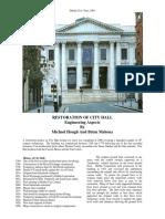 Restoration of City Hall, Dublin - Civic Trust Paper