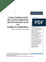 Asentamientos Humanos Ilegales y Situacion Humanitaria de Barrancabermeja