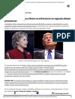 Donald Trump y Hillary Clinton Se Enfrentaron en Segundo Debate Presidencial _ Noticias Del Perú _ LaRepublica