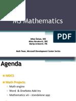 Microsoft Math Powerpoint