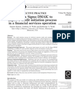 SIX SIGMA DMAIC Financial Services