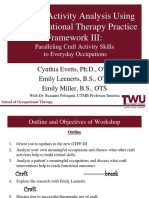 Updated Activity Analysis Using the Occupational Therapy Practice  Framework III