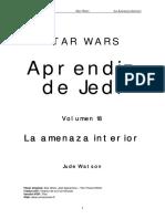 Aprendiz de Jedi 18 - La Amenaza Interior