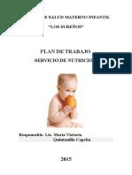 Plan Operativo Nutricion 2015