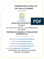 Portada y Evalcuacion Diagnostica Equipo