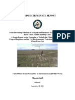 Senate Committee Report on EPA and USACE Navigable Waters Initiative