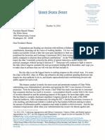 Elizabeth Warren Letter to President Obama Asking to Remove SEC Chair White