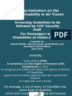 CISF SCREENING GUIDELINES PRESENTATION - TO BE FOLLOWED BY CISF SECURITY STAFF FOR PASSENGERS WITH DISABILITIES AT INDIAN AIRPORTS_ Cisf Ppt Final