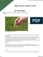 Fumar y El Olfato