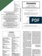 Echanges N°146 – Hiver 2013-2014
