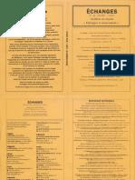 Echanges N°148 – Été 2014