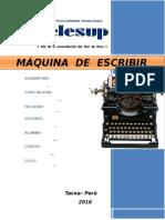 Monografia de Maquina de Escribir