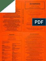 Echanges N°150 – Hiver 2014-2015