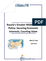 Russia's Greater Middle East Policy