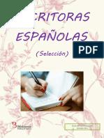 Guía de Lectura Escritoras Españolas