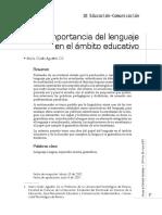 LA IMPORTANCIA DEL LENGUAJE EN EL ÁMBITO EDUCATIVO.pdf