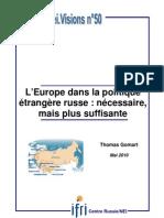 L'Europe dans la politique étrangère russe