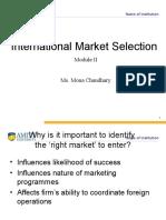 International Market Selection