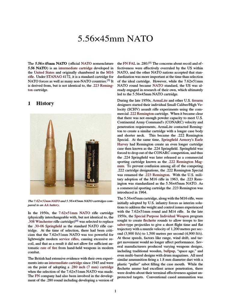 5 56×45mm NATO | Cartridge (Firearms) | Firearms