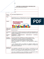 IMPORTANCIA DE LA PARTICIPACIÓN ACTIVA DE LA CIUDADANÍA PARA LOS ENTES DE CONTROL EN COLOMBIA