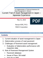 Current Trial of Pavement Management System in Japan