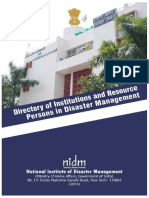 2014 NIDM Directory of Institutions and Resource Persons in Disaster Management  DM_Dir_2014